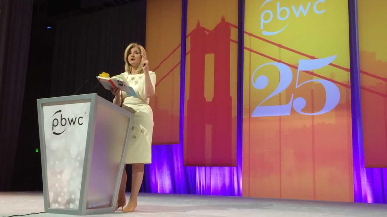 Keynote speaker Arianna Huffington Professional BusinessWomen of California conference in San Francisco.