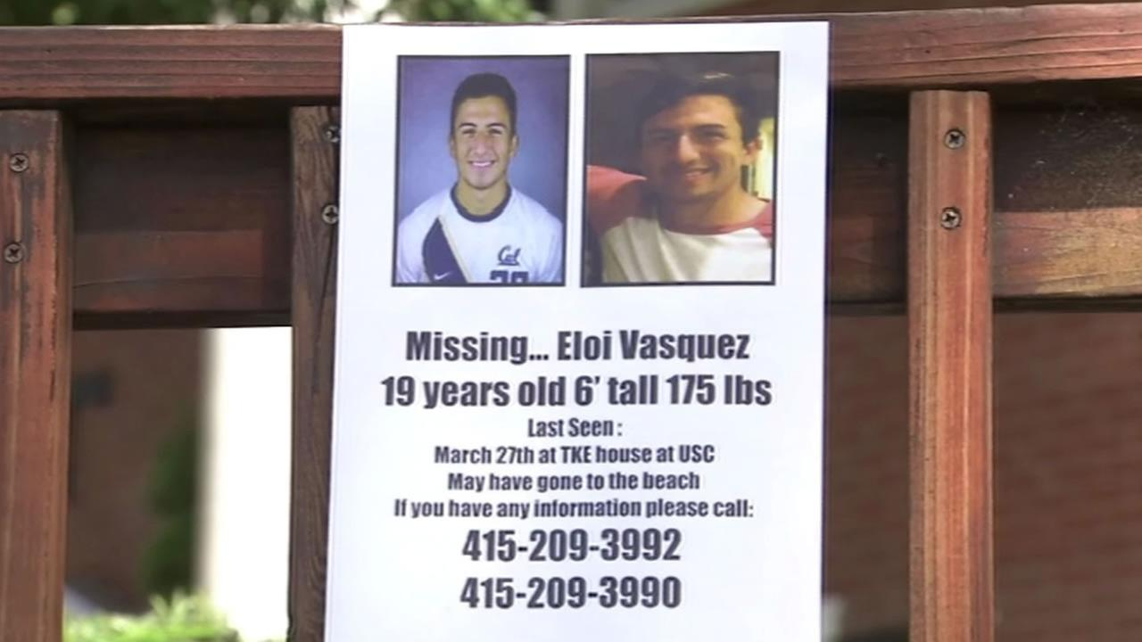 Police are searching for 19-year-old UC Berkeley student Eloi Vasquez who was last seen leaving a party near USC in Los Angeles on March 28, 2015.