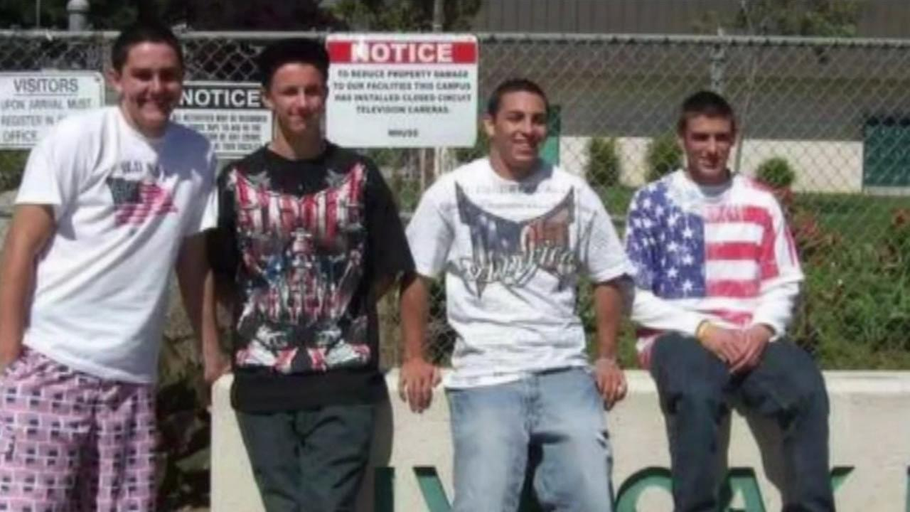 Students at Live Oak High School in Morgan Hill, Calif. wore shirts with the American flag on it on the Mexican holiday Cinco de Mayo in 2010.