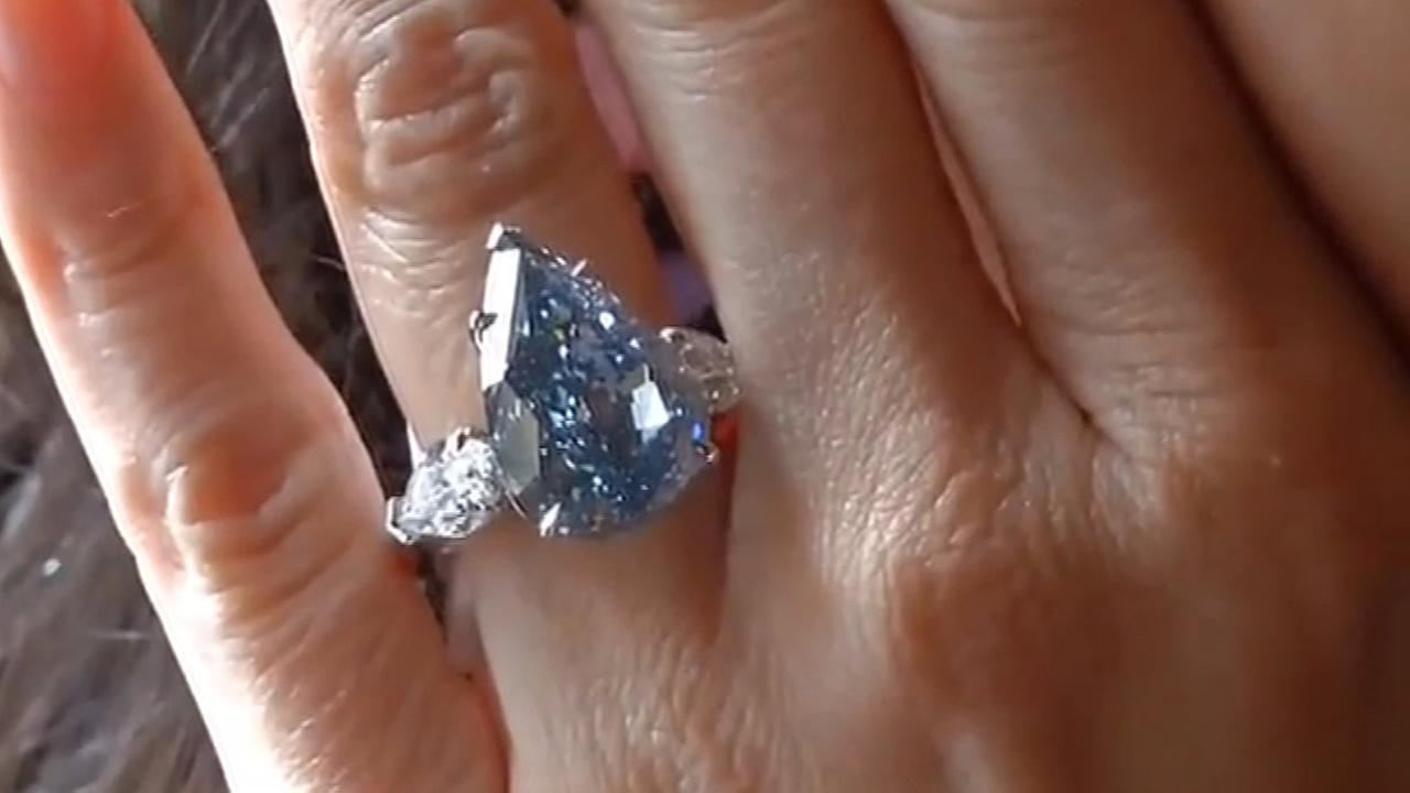 Largest flawless vivid blue diamond in the world