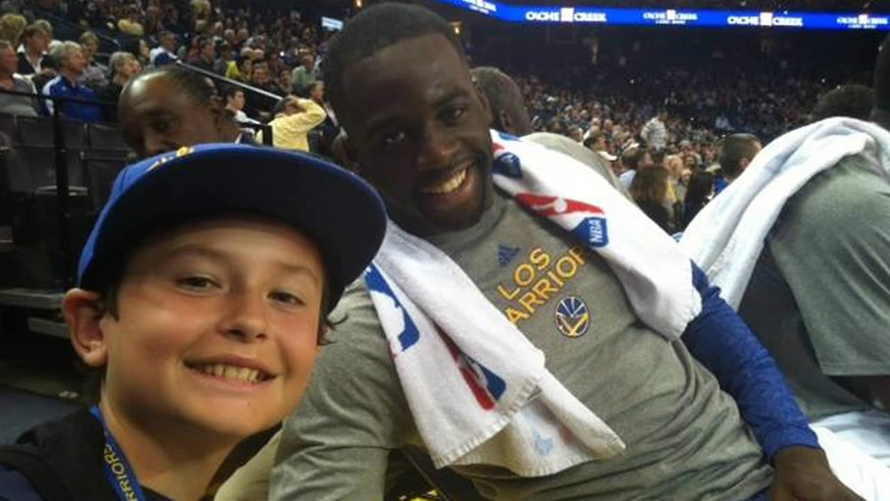 Golden State Warriors fan Tom captured this photo of his son and Dubs star Draymond Green during a game. Send your fan photos to uReport@kgo-tv.com!