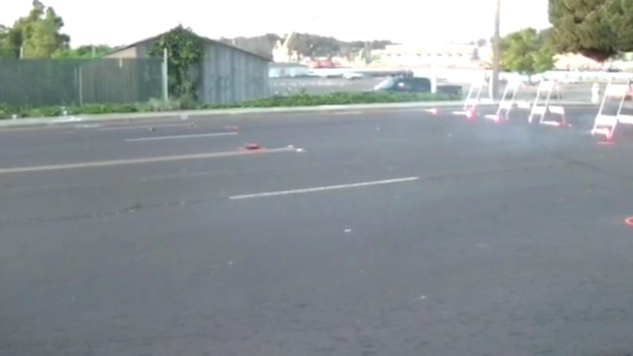 A pedestrian was struck and killed by a car at Marin Street and Curtola Parkway in Vallejo, Calif. on March 31, 2015.