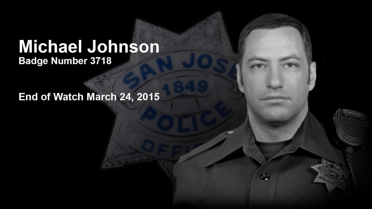 San Jose Police Officer Michael Johnson, a 14-year veteran of the force, was killed in the line of duty on March 24, 2015.