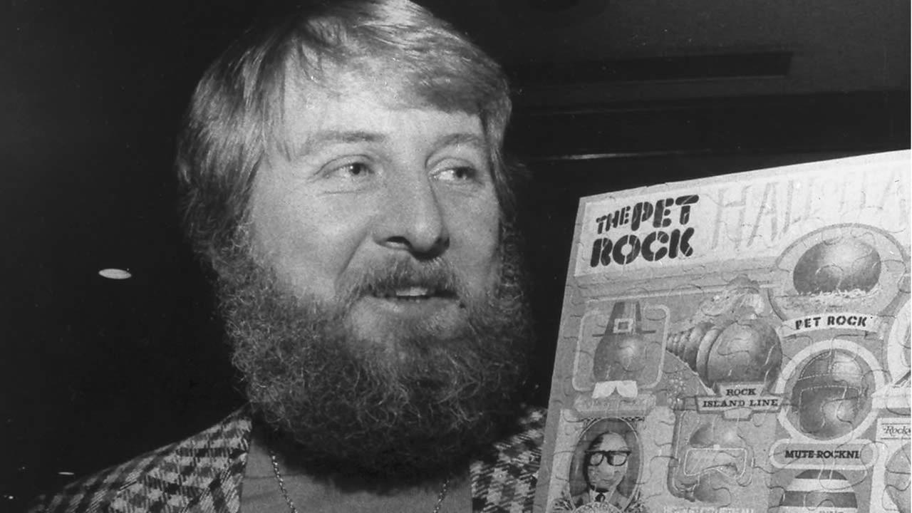 Gary Ross Dahl, the creator of the wildly popular 1970s fad the Pet Rock, has died at age 78 in southern Oregon. (AP Photo/San Francisco Chronicle, File)