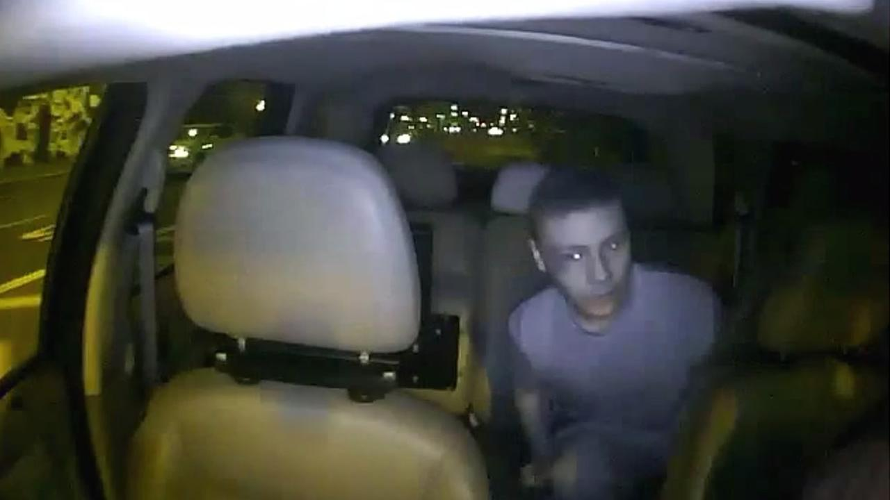 Video uploaded to YouTube shows a man accused of assaulting a taxi driver with a padlock in San Francisco on March 31, 2015.