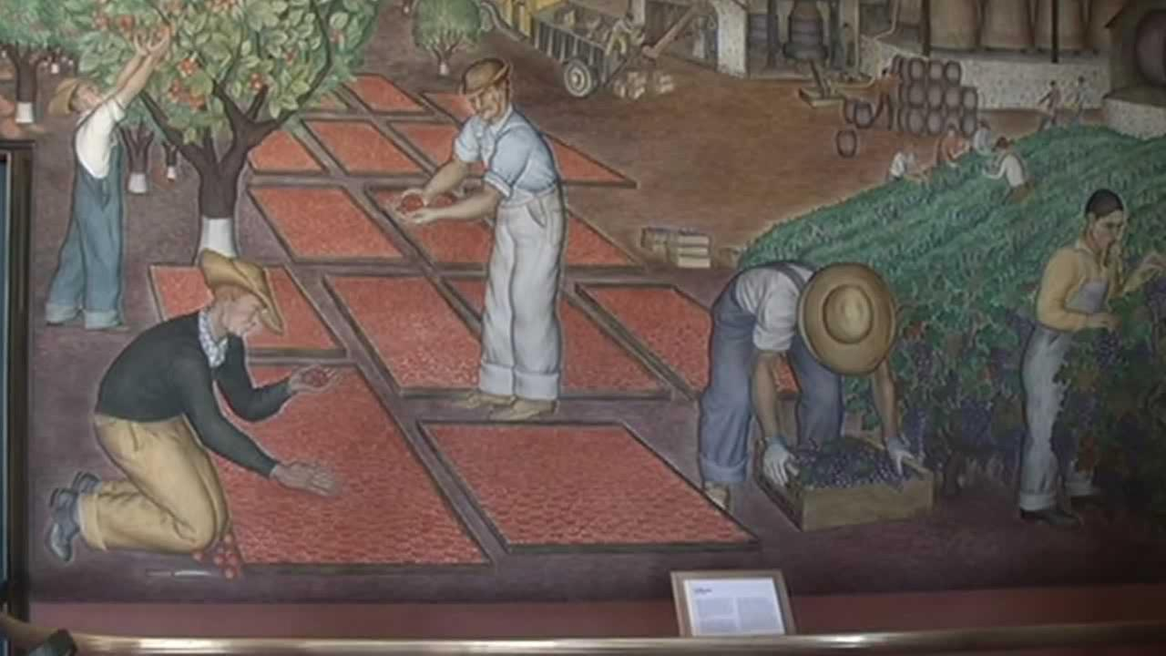 The colors jump out now that murals have been restored at SFs iconic landmark Coit Tower.