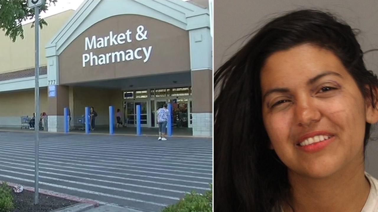 Maria Garate, 20, is accused of attacking a 4-year-old girl and her father with a crowbar in a San Jose Walmart.