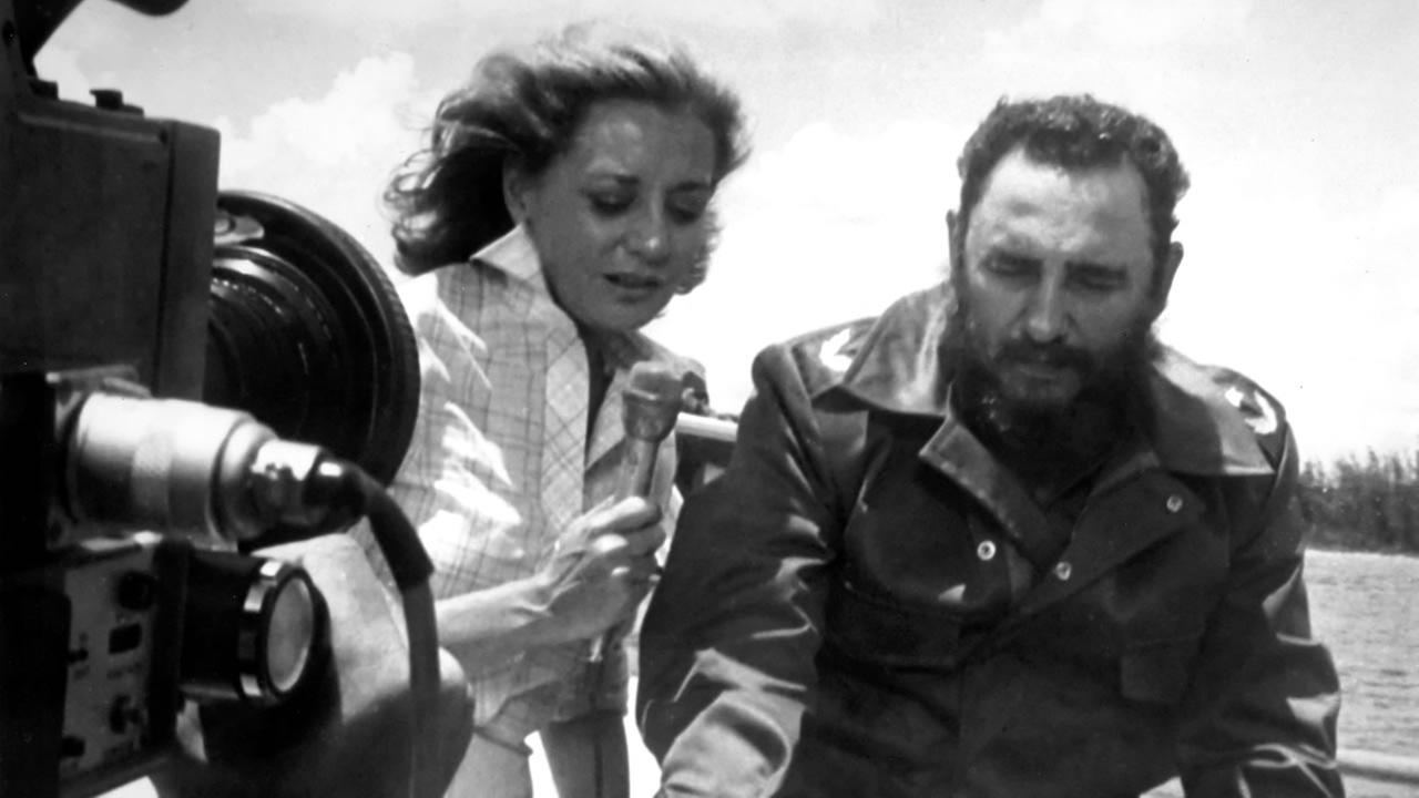 Barbara Walters interviews Cuban president Fidel Castro in 1977.ABC Photo Archives