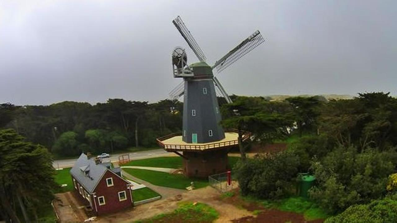 Sky cam catches the Dutch Windmills in Golden Gate Park (Photo submitted by Louis S. via uReport)