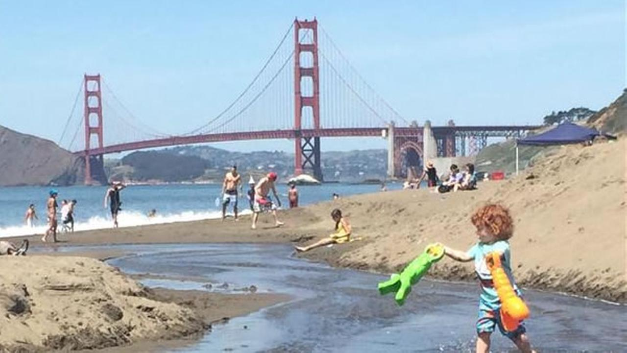 Sunny Baker Beach in San Francisco (Photo submitted by Renee via uReport)