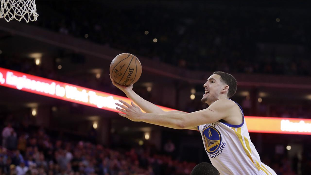 Golden State Warriors Klay Thompson.(AP Photo/Ben Margot)