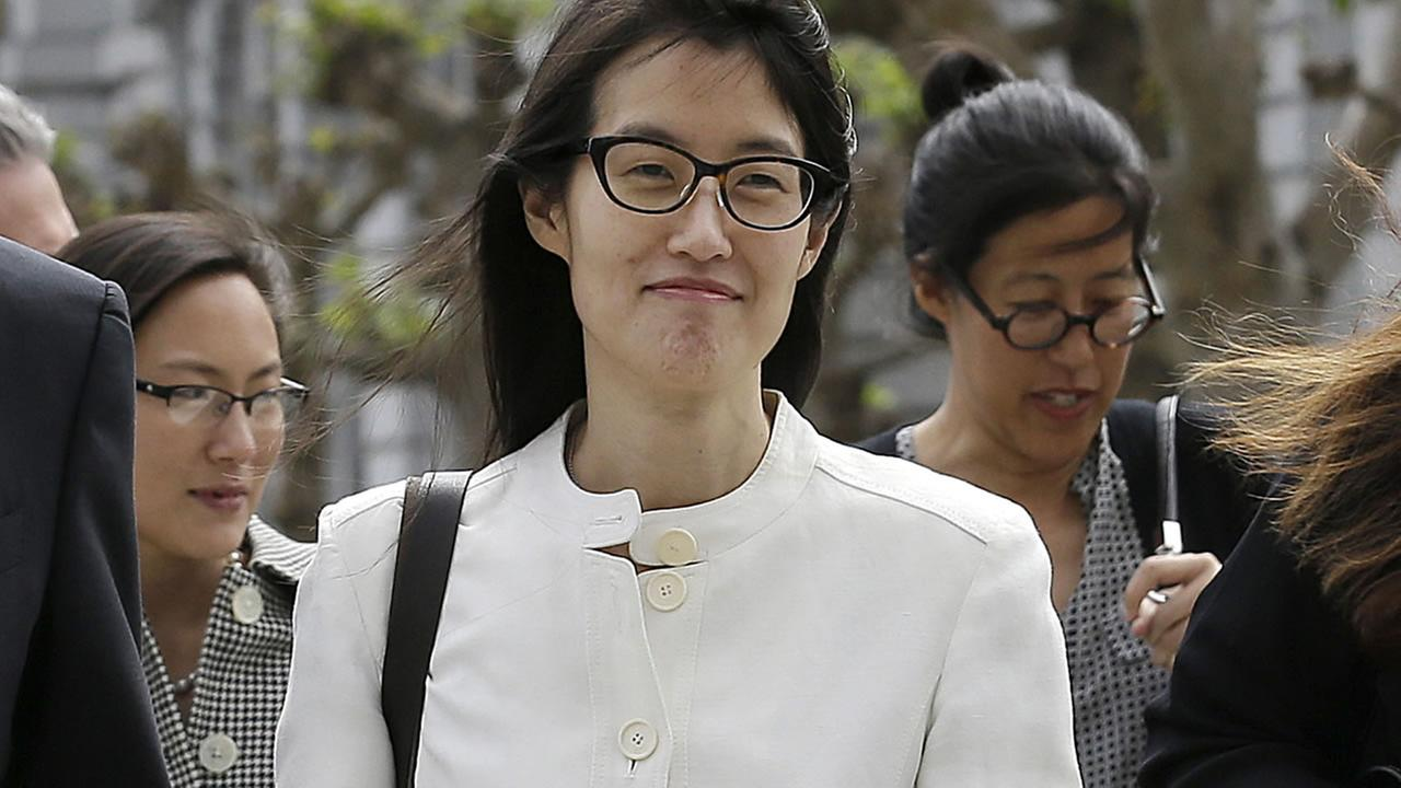 Ellen Pao walks to Civic Center Courthouse in San Francisco, Friday, March 27, 2015. (AP Photo/Jeff Chiu)