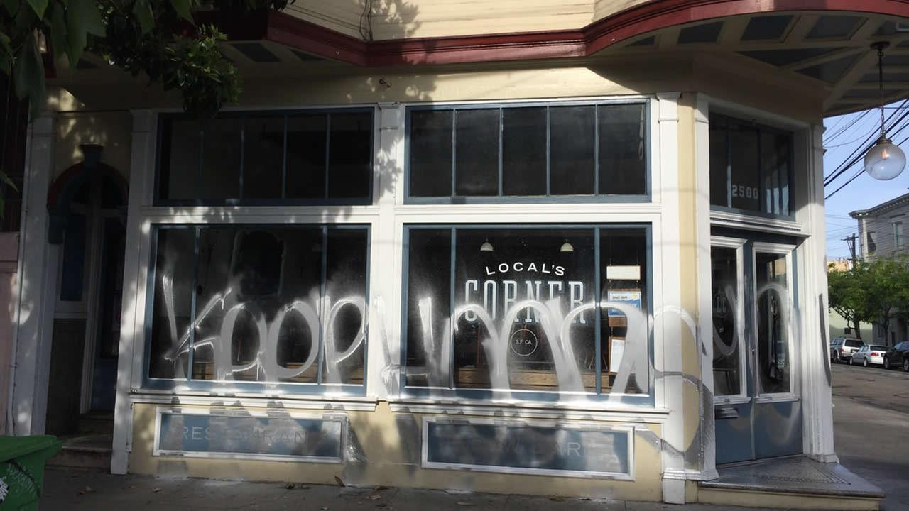 San Franciscos Locals Corner restaurant targeted with graffiti