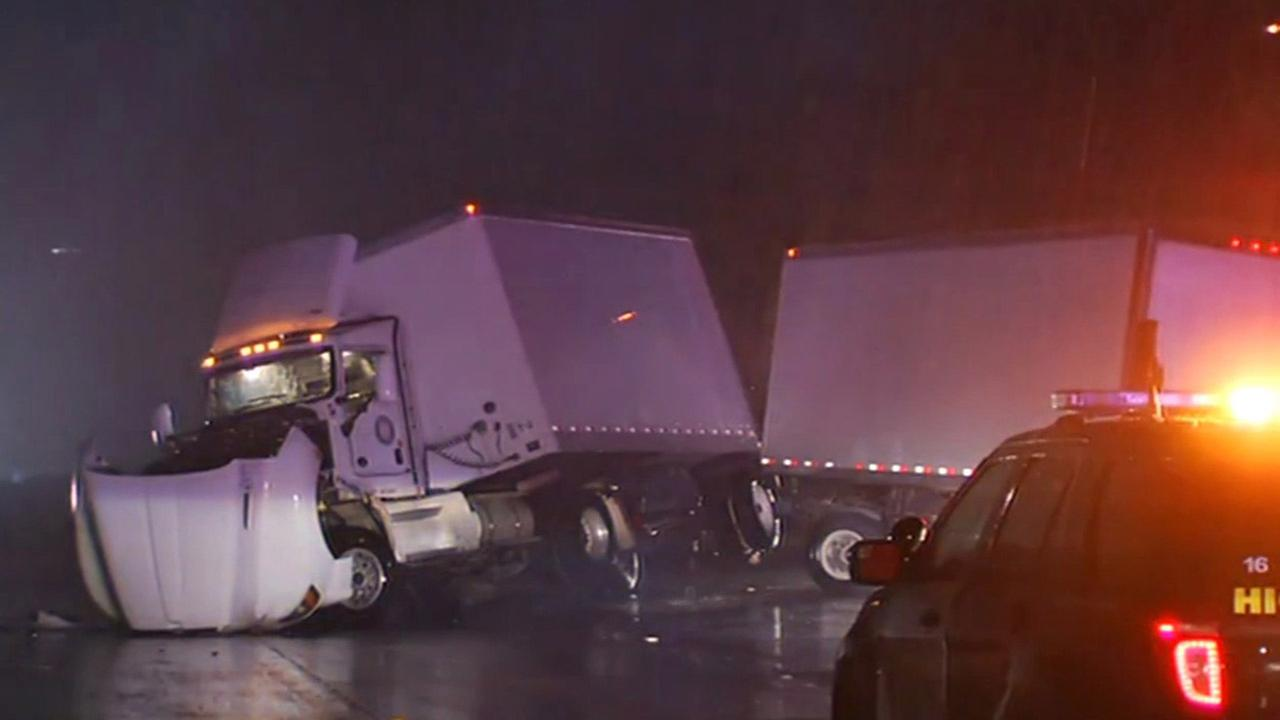 Big-rig accident on NB I-680 in Fremont.KGO-TV