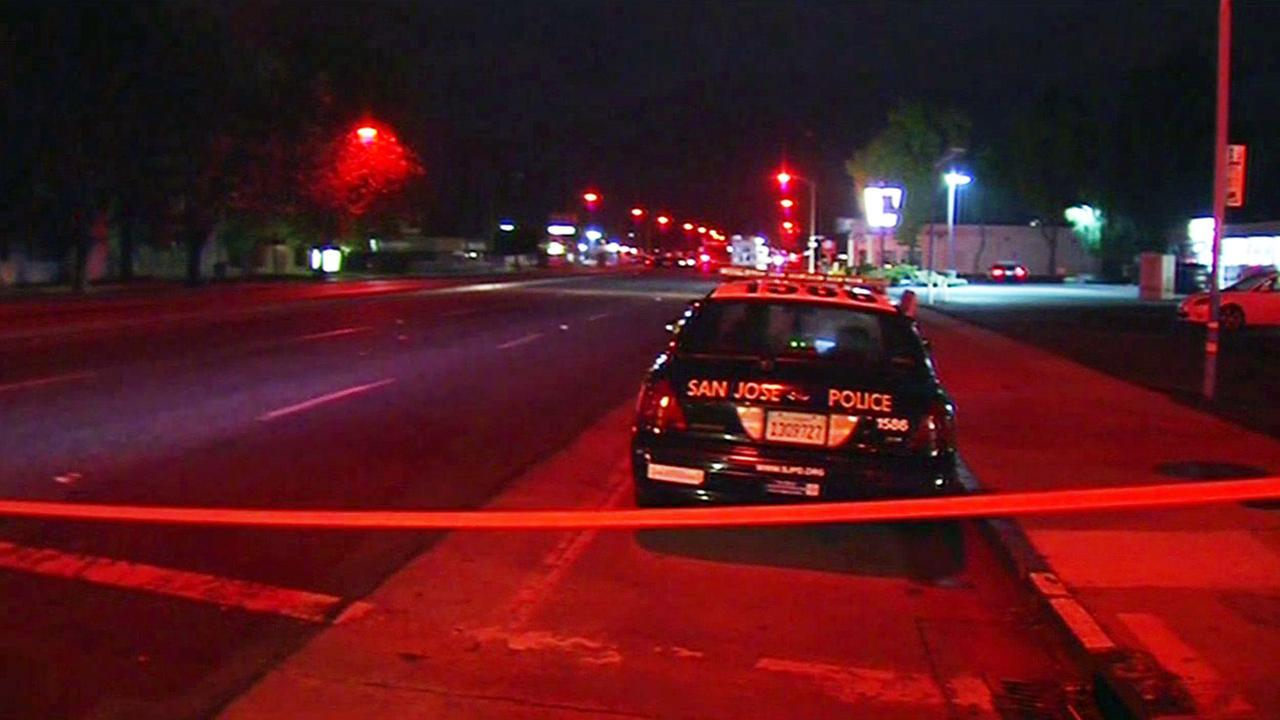 San Jose police investigate fatal shooting on Bascom and Stokes.