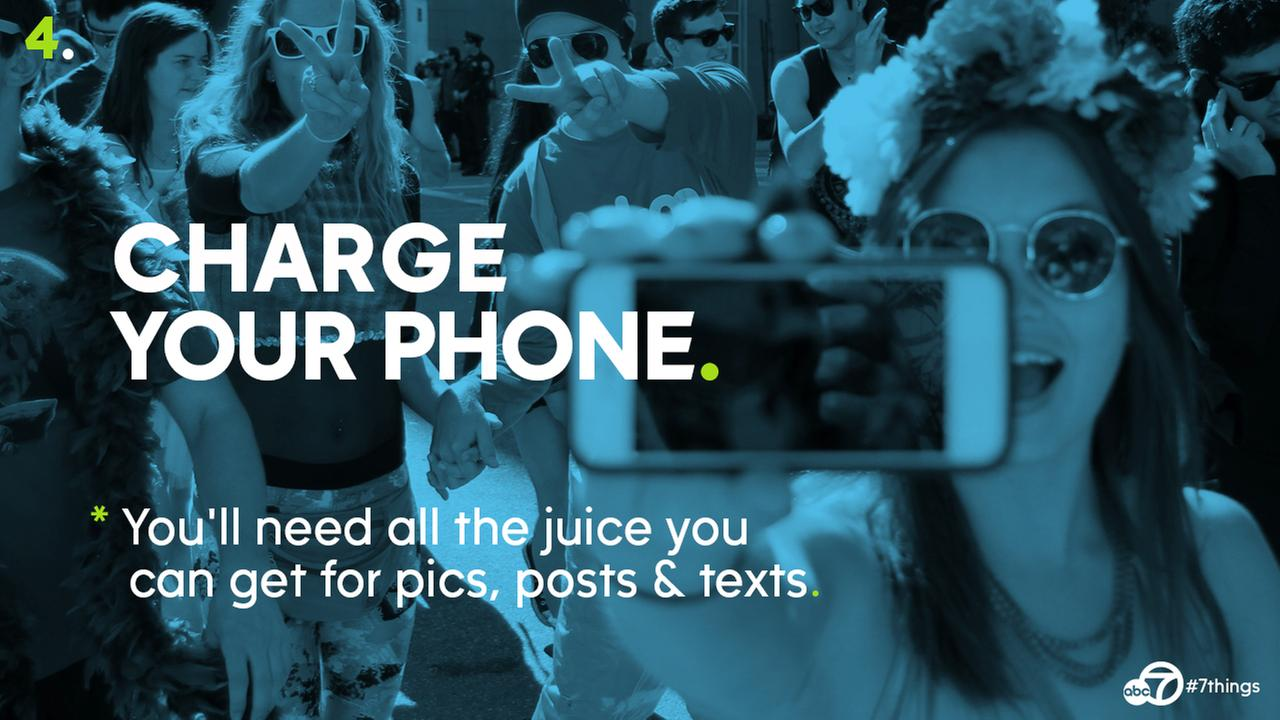 Make sure your phone is fully charged. Nothing is worse than losing power right in the middle of that perfect Bay to Breakers selfie (or losing contact with your friends!)Photo by keved/Flickr