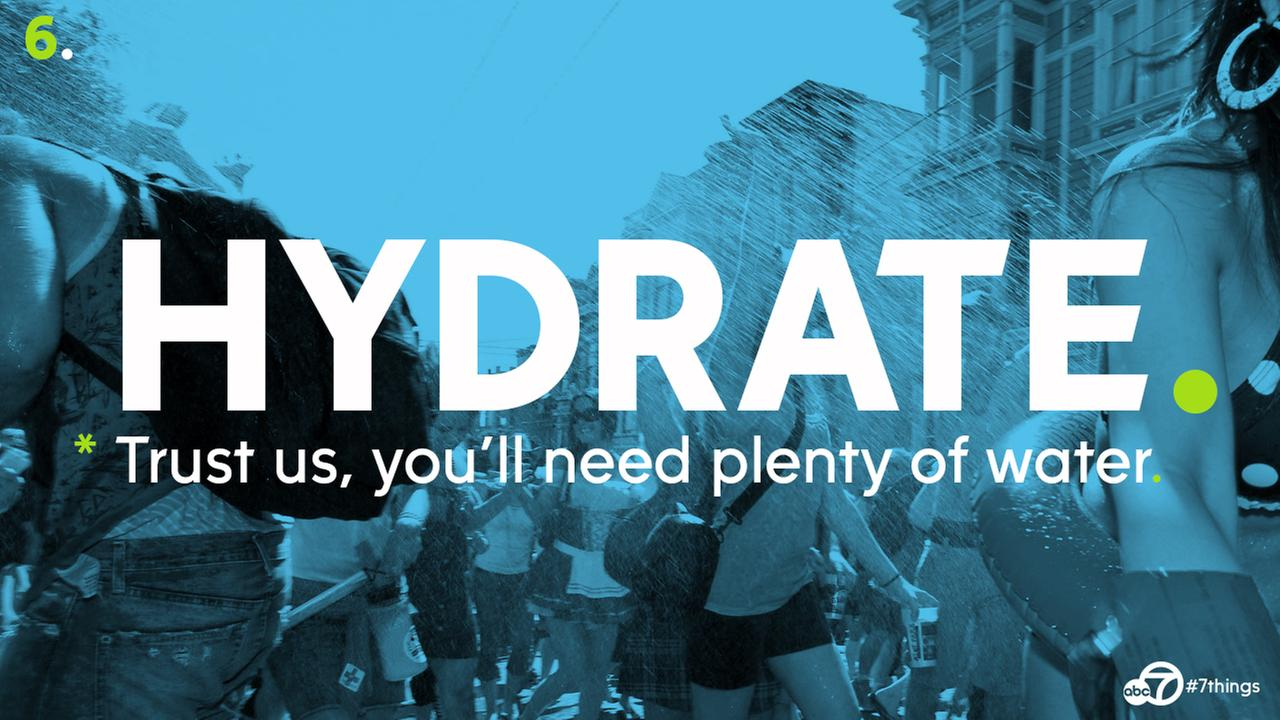 Hydrate, hydrate and then hydrate again. Make sure you have plenty to drink even after youve had plenty to drink.