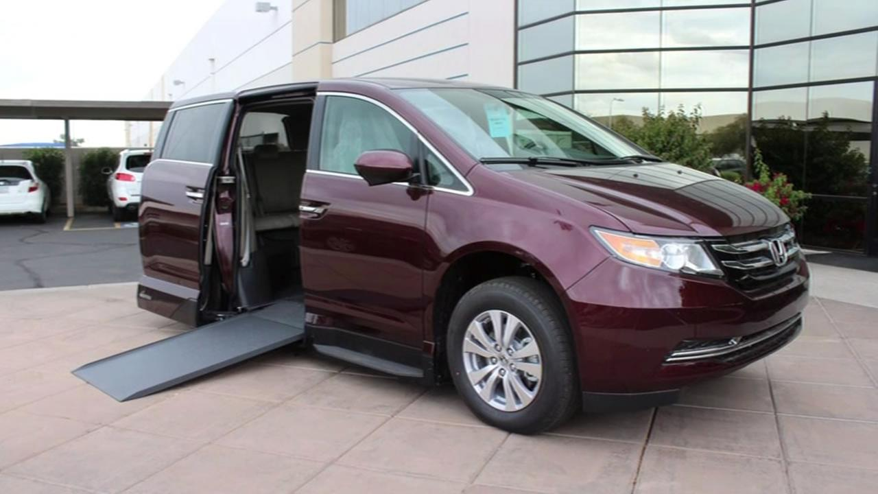 A van like this thats custom designed for people with disabilities was stolen from a home in Fremont, Calif. in April 2015.
