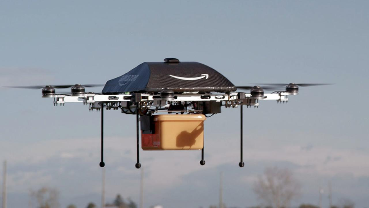 This undated image provided by Amazon.com shows the so-called Prime Air unmanned aircraft project that Amazon is working on. (AP Photo/Amazon)