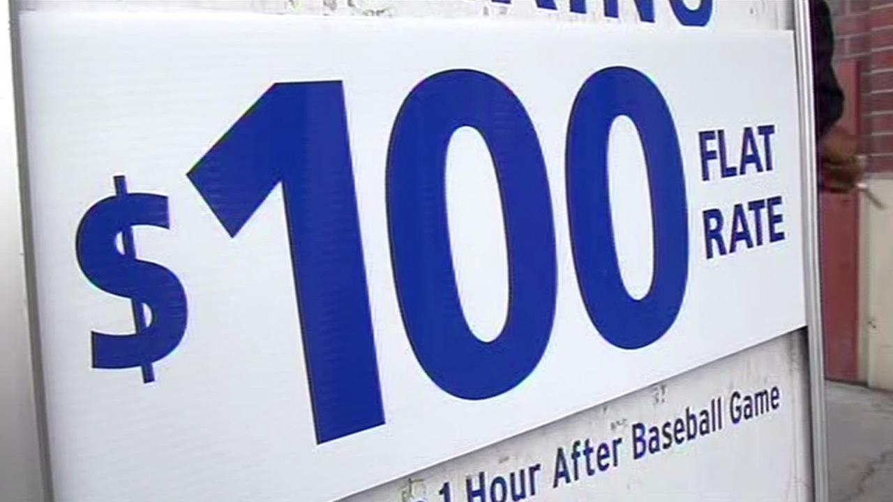 Some San Francisco Giants fans faced $100 parking fees ahead of the teams home opener at AT&T Park on April 13, 2015.