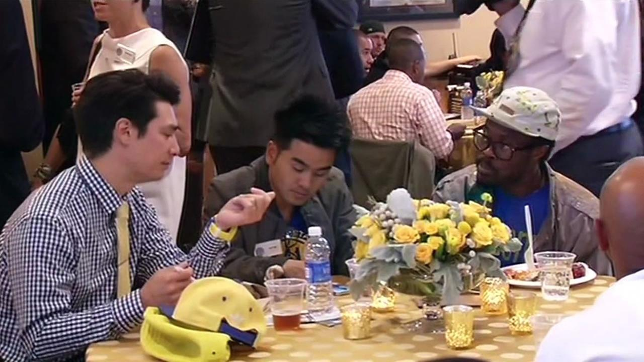 A number of Bay Area organizations who received donations from the Golden State Warriors enjoyed a pre-game reception April, 15, 2015.