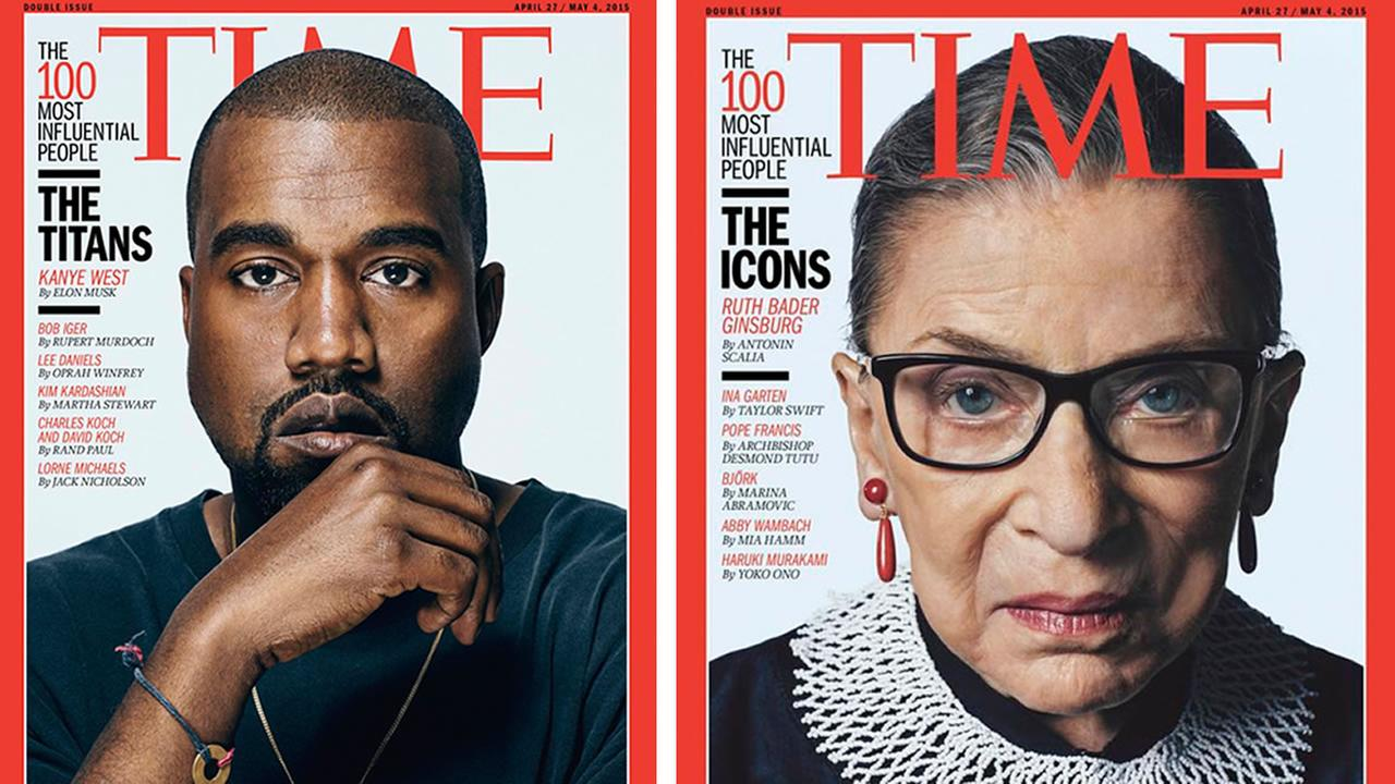 Ruth Bader Ginsburg and Kanye West
