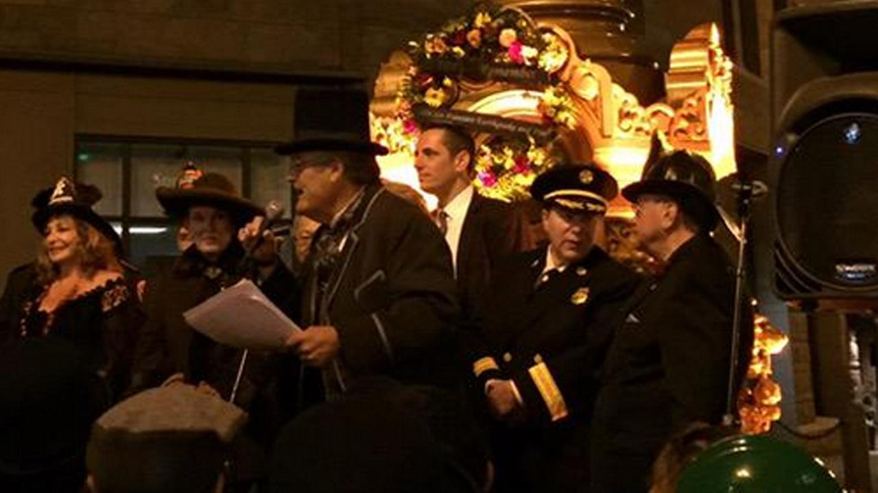 1906 Earthquake ceremony at Lottas Fountain in San Francisco on April 18, 2015.