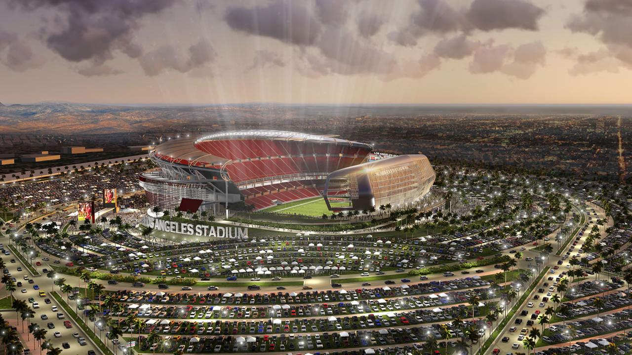 artist rendering provided by MANICA Architecture shows an artists rendering of a newly proposed NFL stadium in the city of Carson,