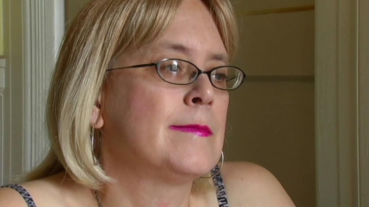 Rae Raucci, founder of the nonprofit Transgender Emergency Fund, talks to ABC7 News in April 2015.