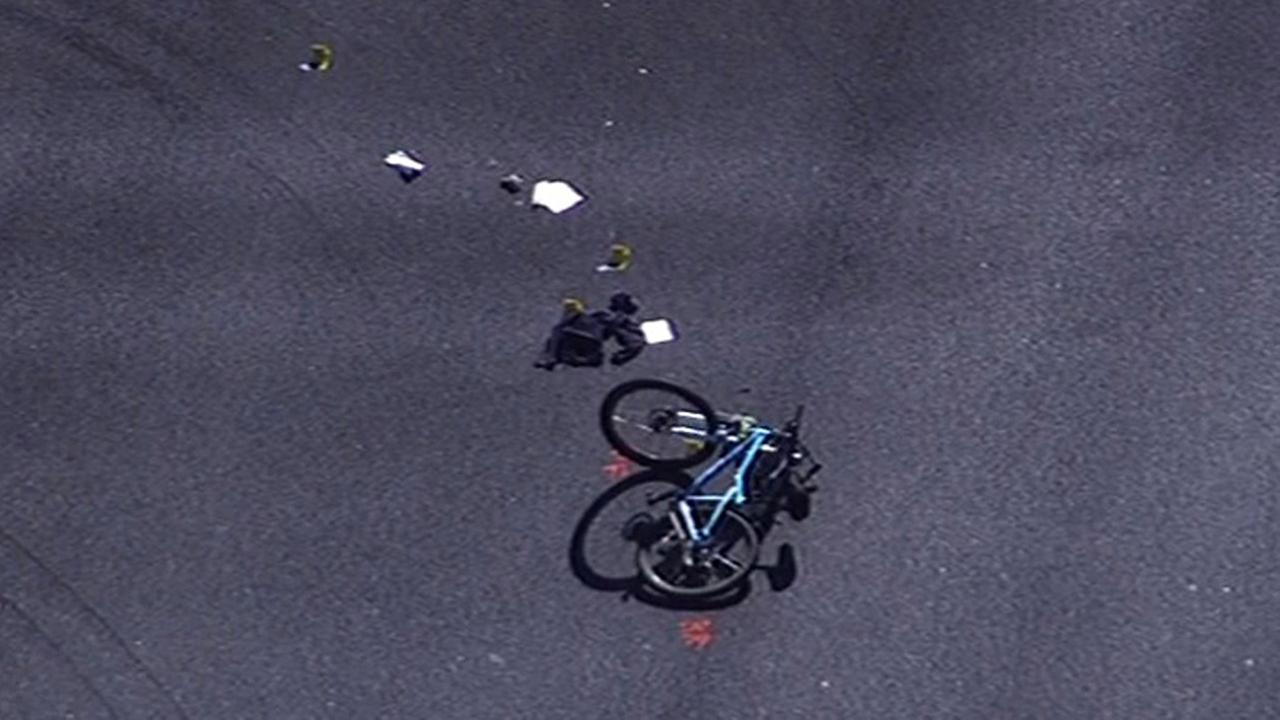 A bicyclist was fatally struck by a vehicle in Sunnyvale April 27, 2015.