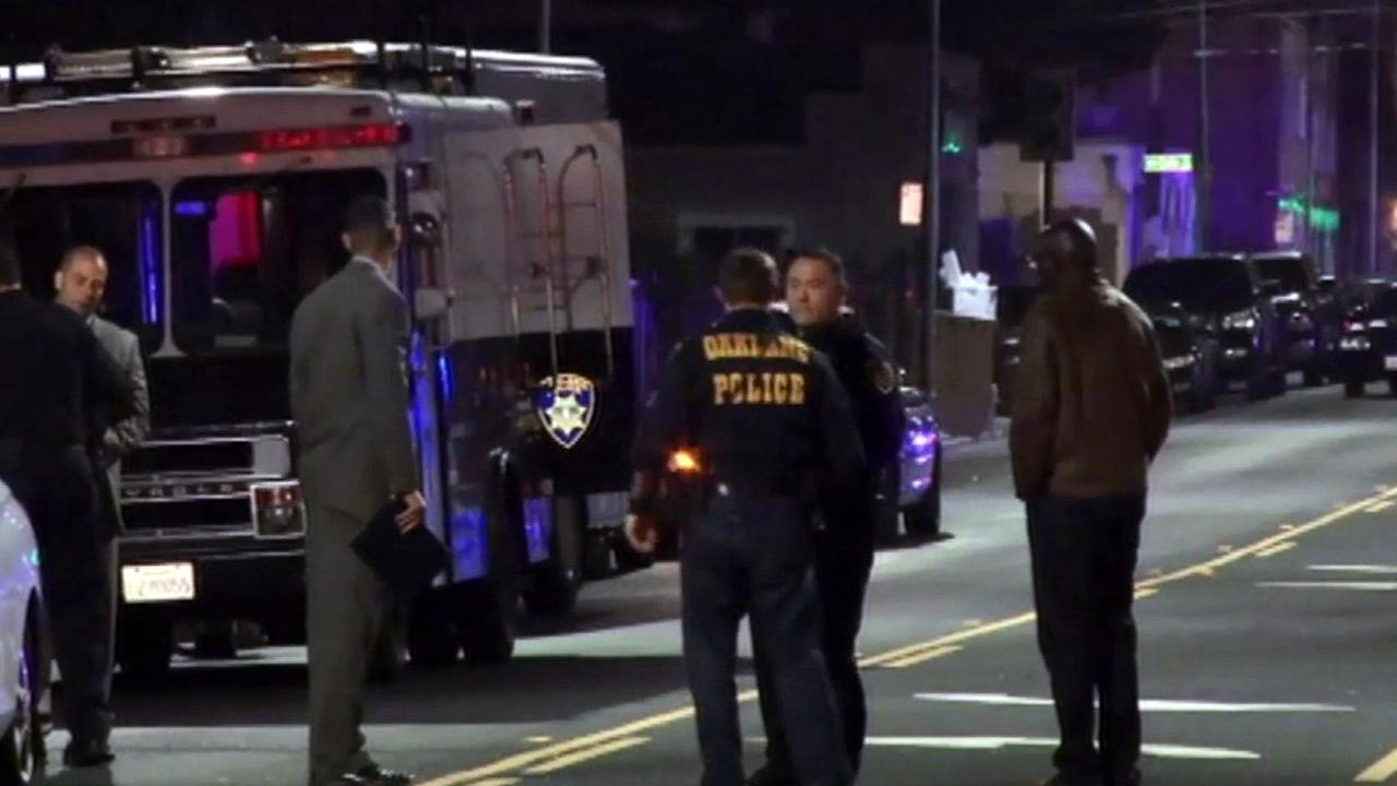 Oakland police investigation, Wednesday, April 29, 2015.