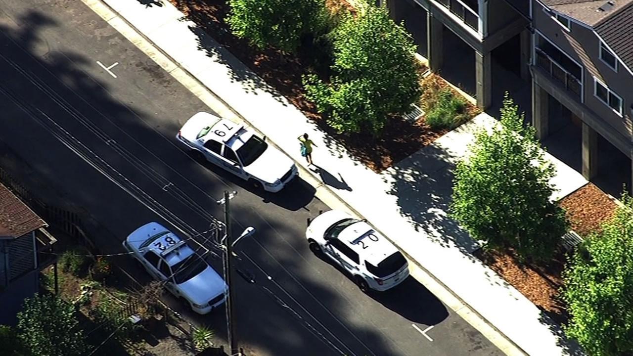 Deputies car on scene