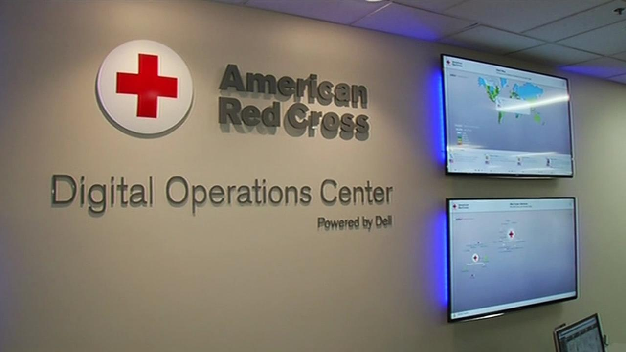 A sign for the American Red Cross Digital Operations Center in San Jose, Calif. is seen on April 30, 2015.