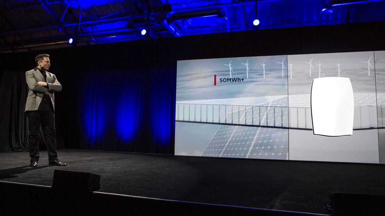 Tesla Motors CEO Elon Musk on stage
