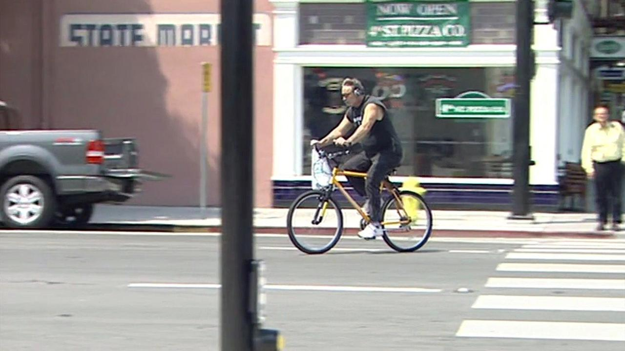 Bicyclist in San Jose