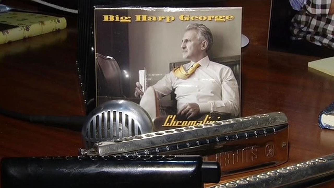 UC Hastings professor George Bisharat, also known as Big Harp George, is nominated for Best New Artist Album at the Blues Music Awards.