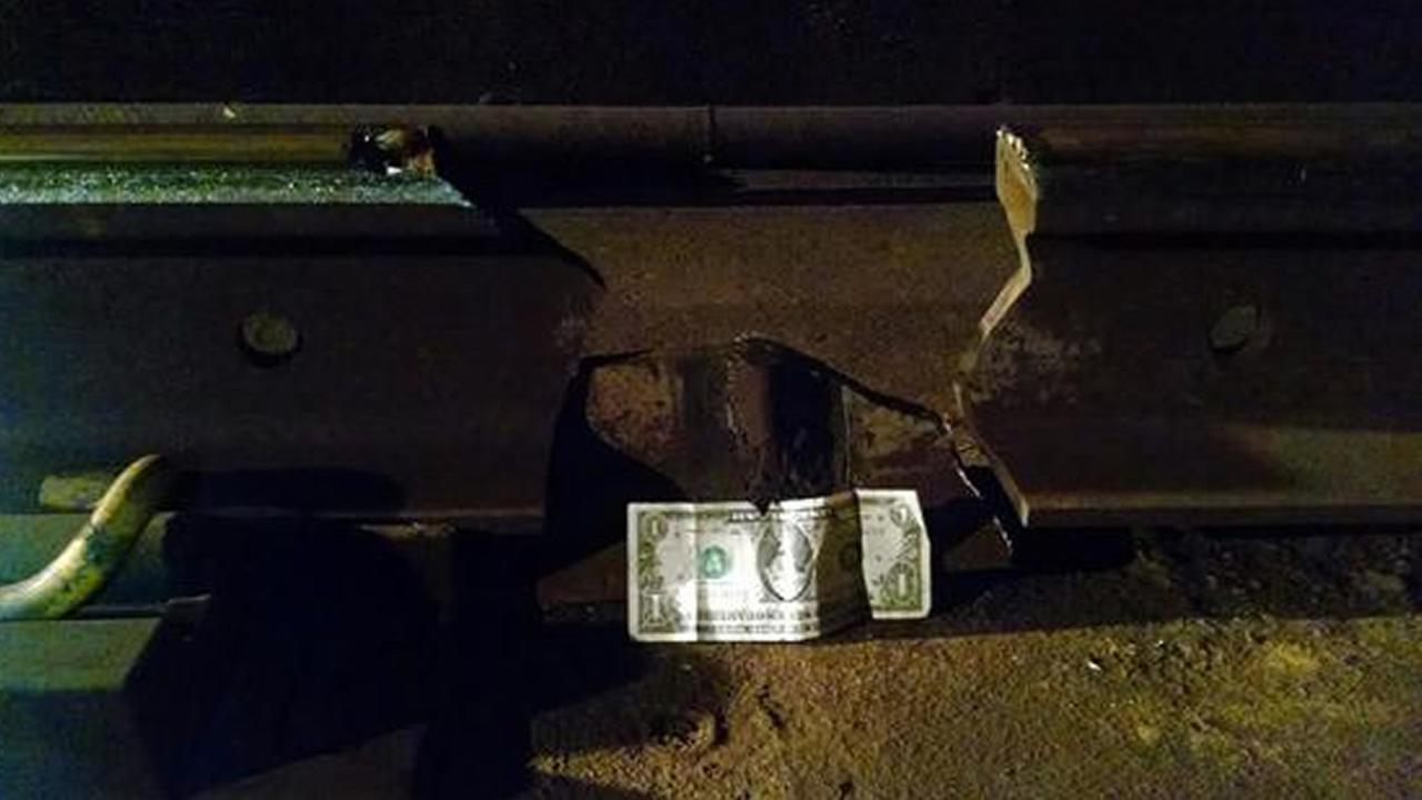 A 10-inch section of broken rail between BARTs Civic Center and 16th St. Mission stations in San Francisco caused major delays on May 6, 2015.