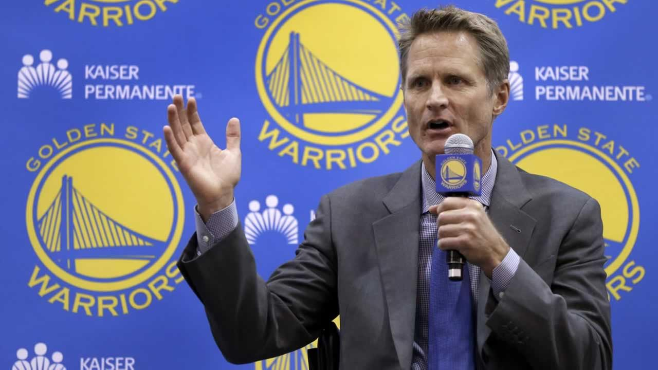 Golden State Warriors coach Steve Kerr.