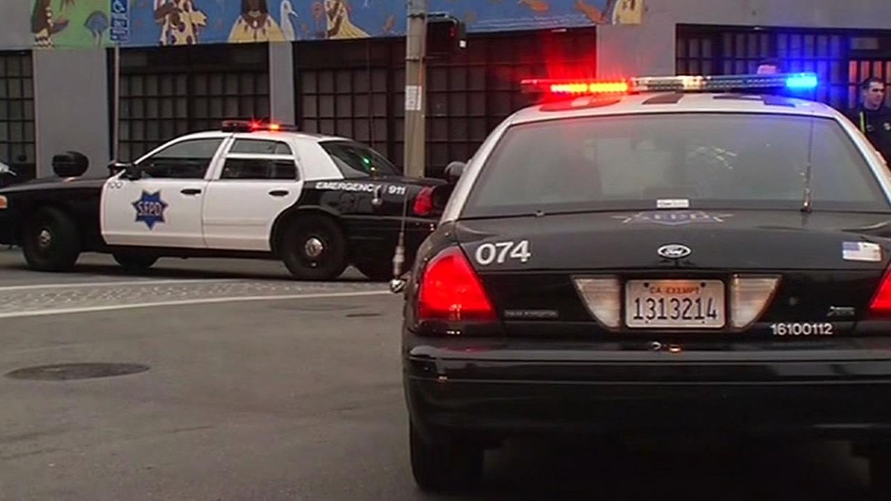 San Francisco police cars