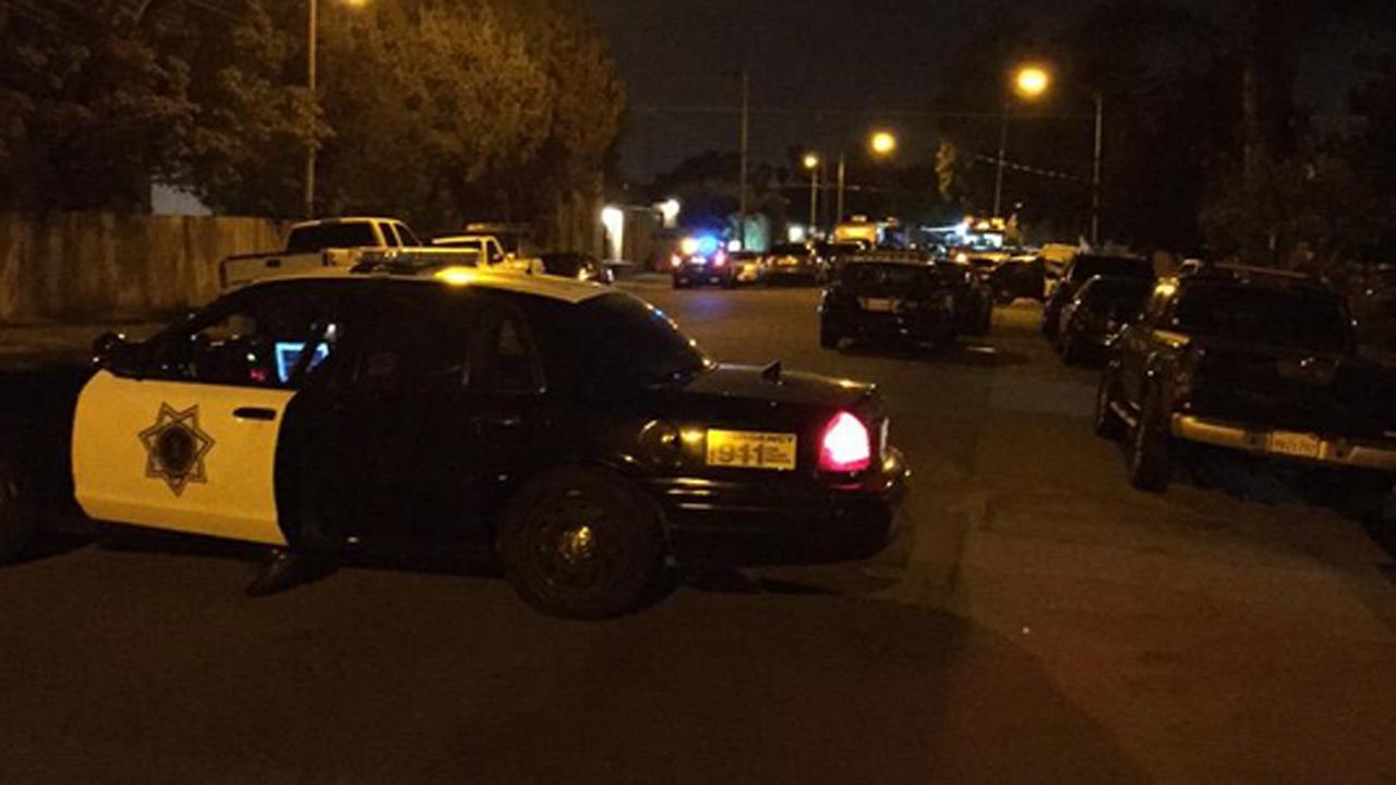 San Jose police at standoff, Friday, May 8, 2015.