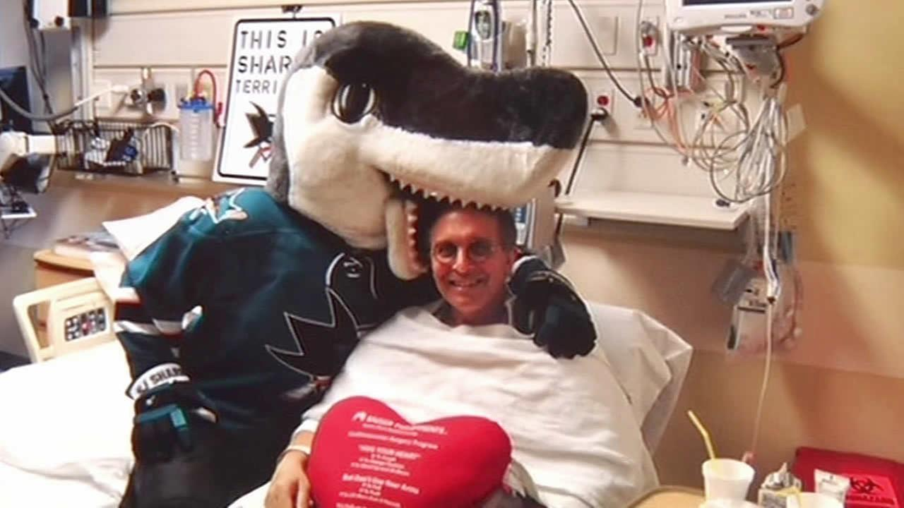 Brian Ragusa and Sharky in the hospital