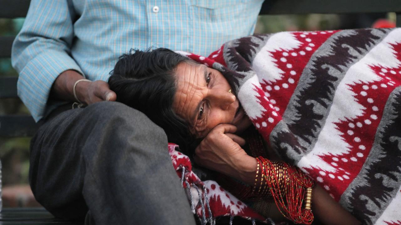 A Nepalese victim of Tuesdays earthquake rests her head on the lap of a man at Teaching Hospital in Kathmandu, Nepal, Tuesday, May 12, 2015.AP Photo/Niranjan Shrestha