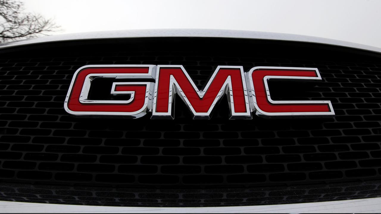 FILE: The grill of a GMC vehicle.