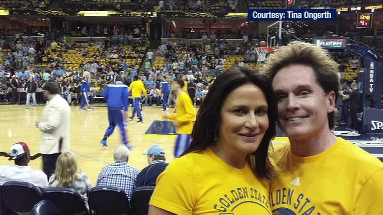 Barry and Tina Ongerth at a Warriors game