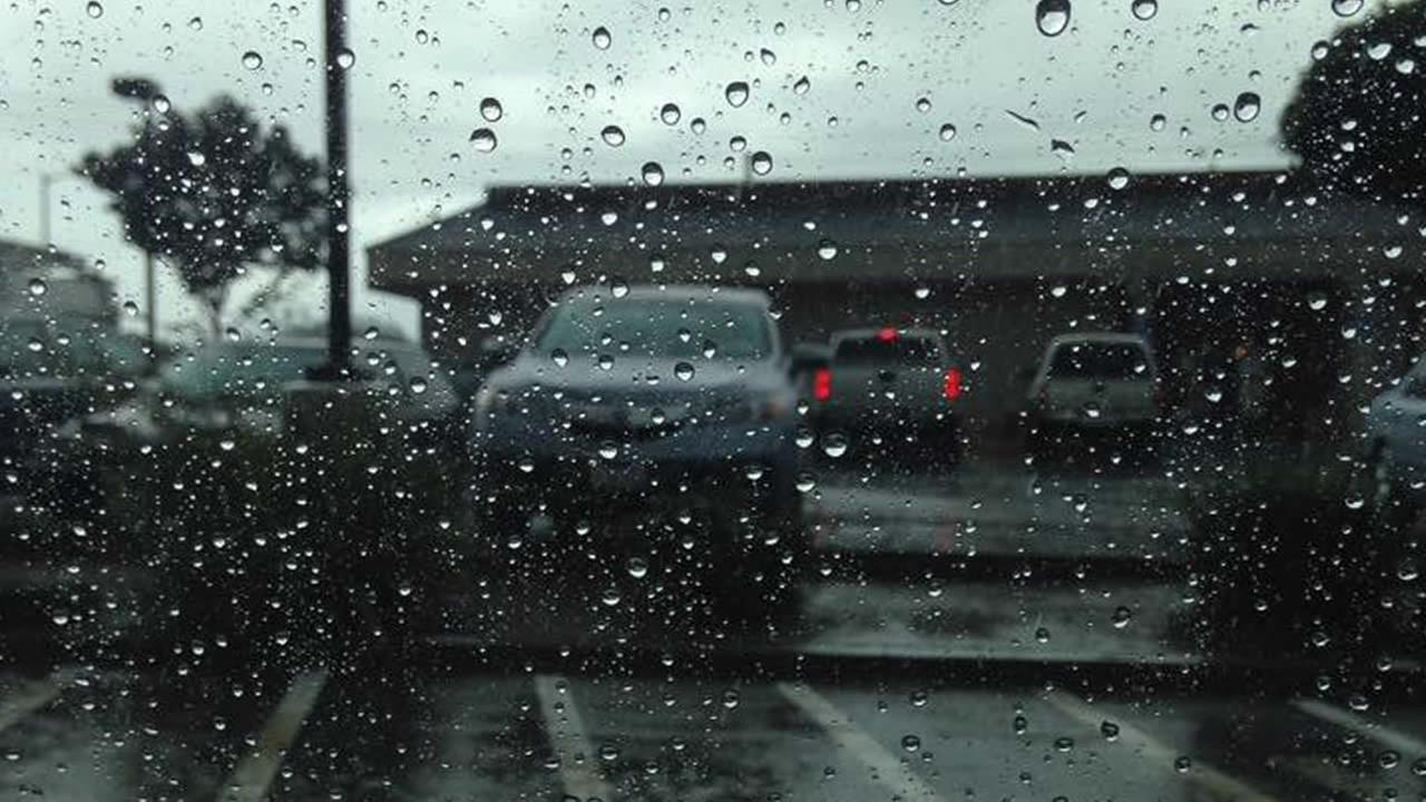 The rain poured down in Santa Clara, Calif. on May 14, 2015.