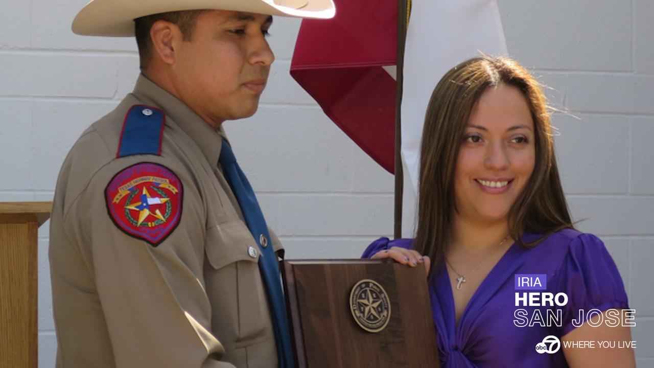 LIFE-SAVING HERO: Iria Wolnick of San Jose is being honored for her extraordinary courage after saving the life of an unborn baby on the side of a desolate highway in south Texas. David Louie
