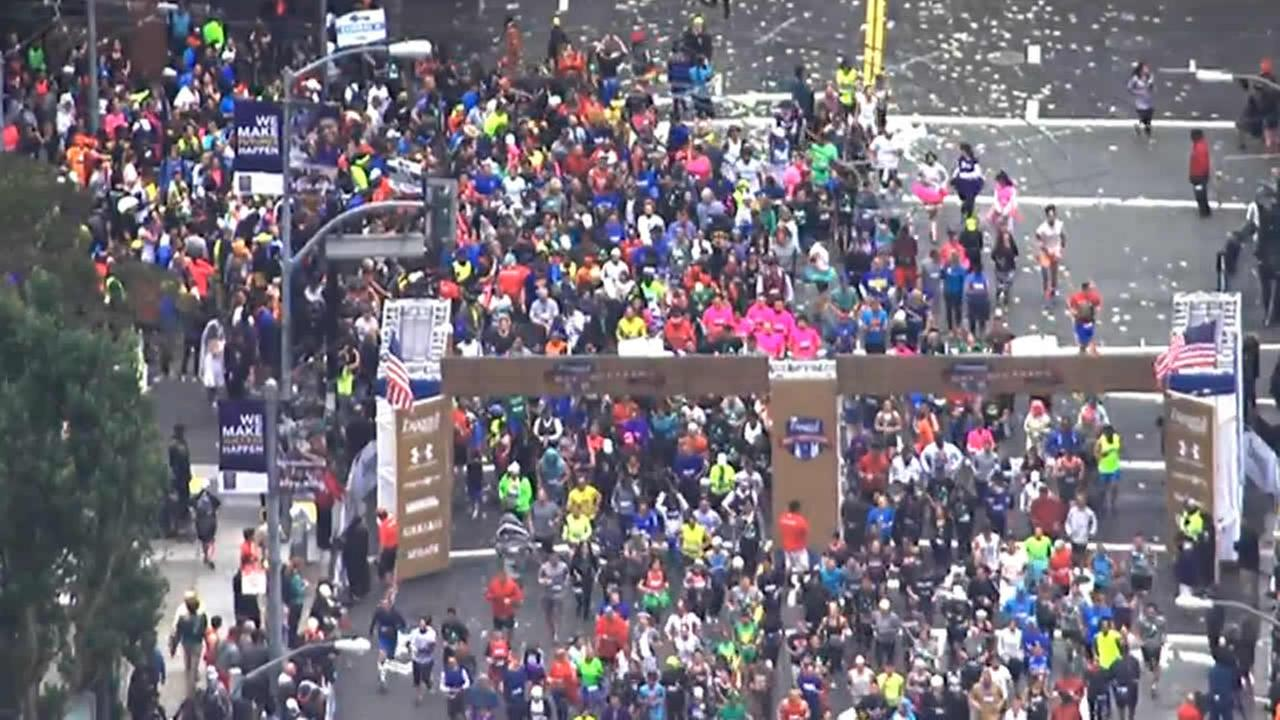 Thousands of runners participate in San Franciscos annual Bay to Breakers Race on May 17, 2015.KGO-TV
