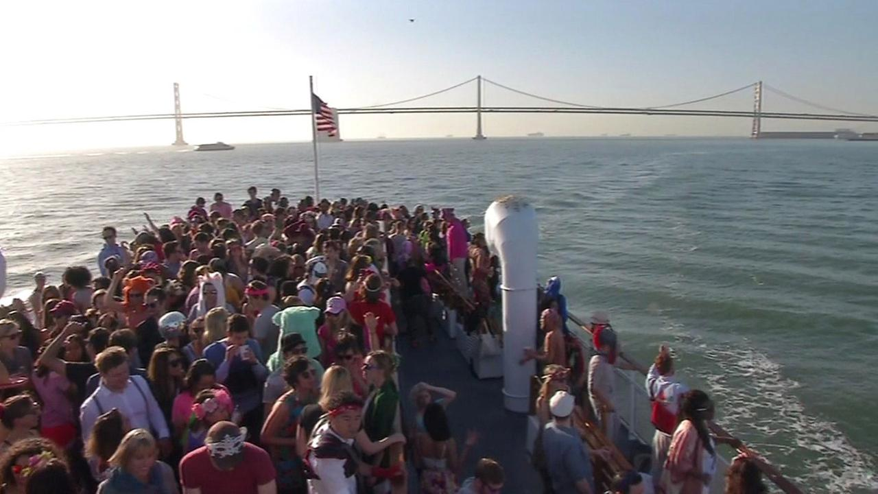Party boat in San Francisco Bay.
