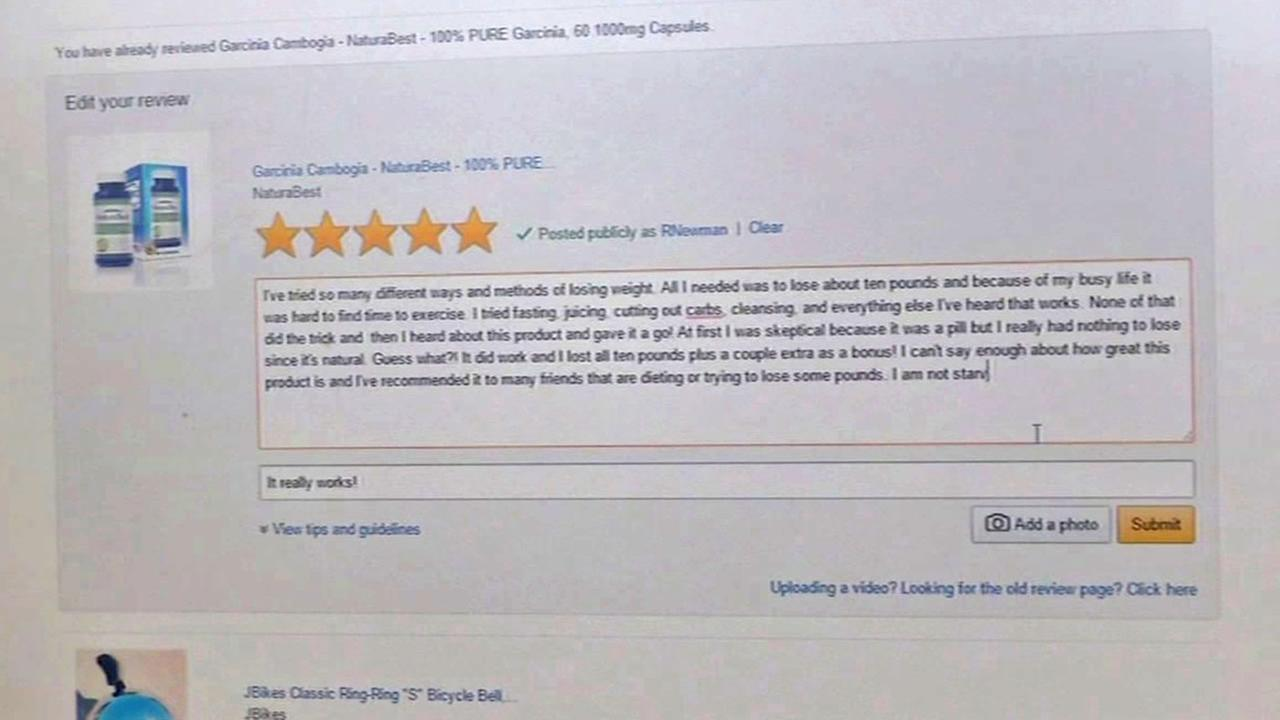 example of an online review