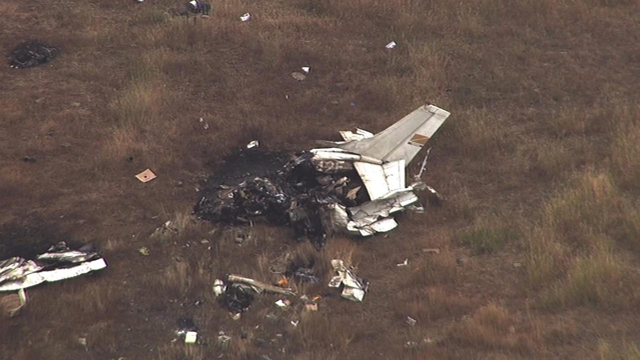This single-engine Cessna 210 flying from Concord to Reid-Hillview Airport crashed near Livermore. It went missing Thursday night,.
